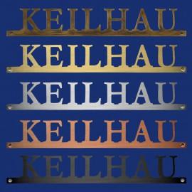 Namen-Schriftzug Türschild in Großbuchstaben