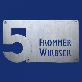 Hausnummer-Türschild-Kombination
