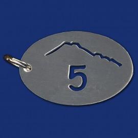 Hotel Schlüsselanhänger mit Bergmotiv
