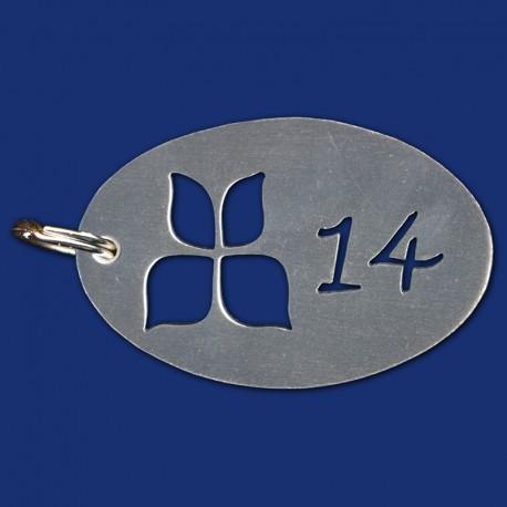 Hotel Schlüsselanhänger mit Schmetterling-Logo