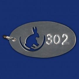 Hotel Schlüsselanhänger mit Hasen-Logo