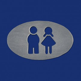 Ovales WC-Schild