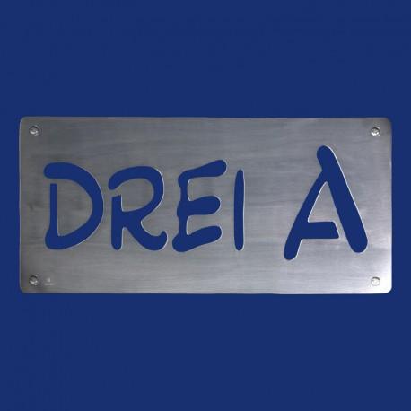 Hausnummer DREI A aus Aluminium