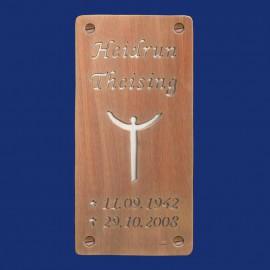 Grabsteinschild aus Kupfer und Aluminium