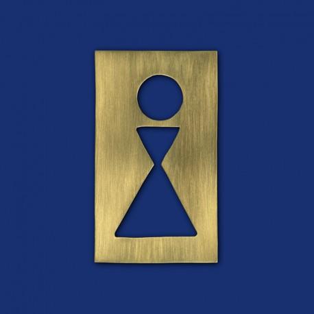 Rechteckiges Design WC-Schild