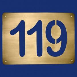 Metall Hausnummer 119 Türschild