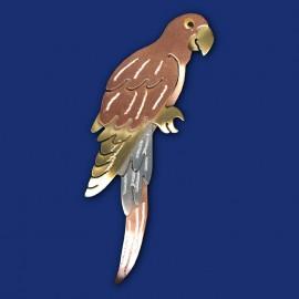Papagei Brosche
