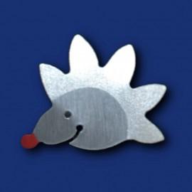 Kleiner silberner Igel als Pin