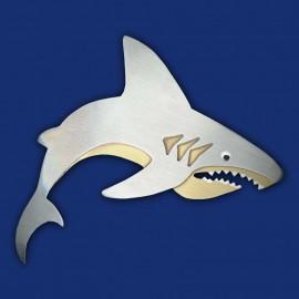 weißer Hai als Haarspange
