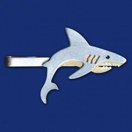 weißer Hai Haifisch Krawattenklammer