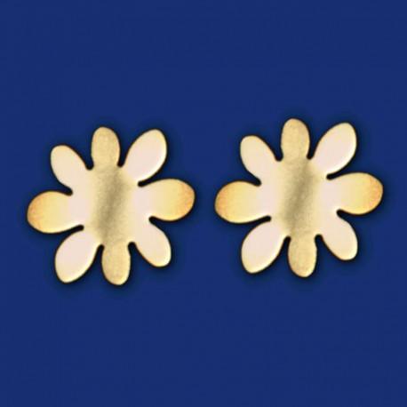 Blumen-Ohrstecker aus Messing