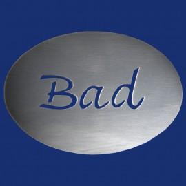 Ovales WC- oder BAD-Türschild