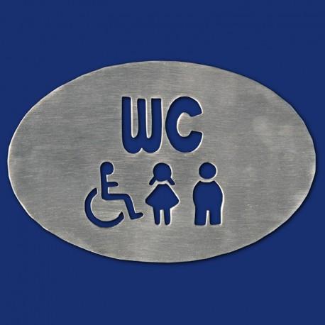 Ovales WC-Schild mit Schriftzug