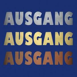 """Metallbuchstaben """"AUSGANG"""" und """"EINGANG""""  für Praxis und Büro"""