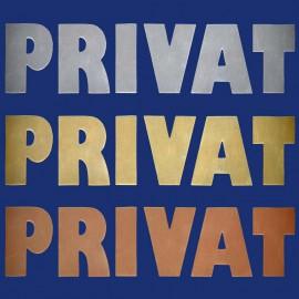 """Türschild / Metallbuchstaben """"PRIVAT"""""""