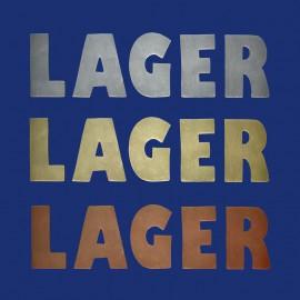 "Türbeschriftung Buchstaben ""LAGER"" / ""LABOR"""