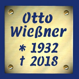 Grabsteinschild Stolperstein aus Messing