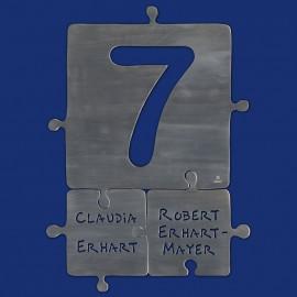 Türschild Puzzle Hausnummer Kombination