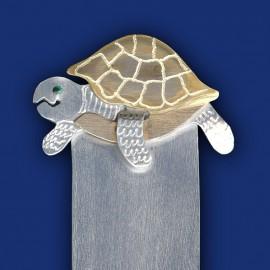 Schildkröte als Lesezeichen / Buchzeichen