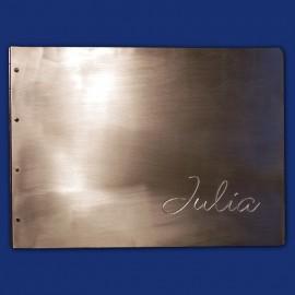 Metallordner aus Aluminium als Fotoalbum