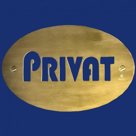 ovales Türschild für private Eingänge