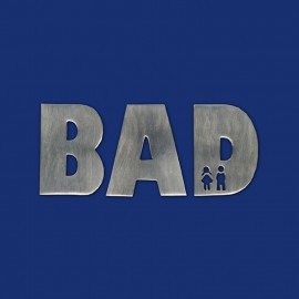 Design-Türschild Metallbuchstaben BAD und WC
