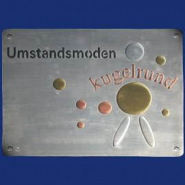 Ladenschild mit Logo, vierfarbig