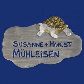 Türschild mit Schildkröten-Motiv