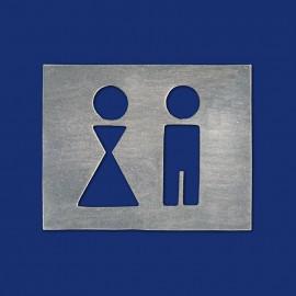 Rechteckiges Design-WC-Schild