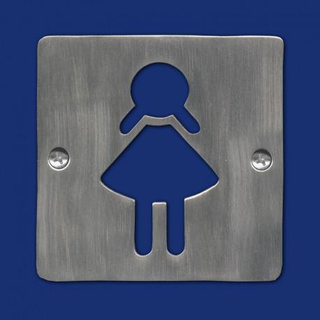 Quadratisches WC-Schild