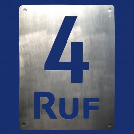 Hausnummer 4 Türschild mit Name