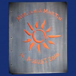 Metallordner aus Aluminium als Hochzeitsgeschenk