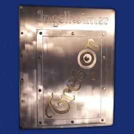 Individuelle Speisekarte aus Aluminium gold-silber