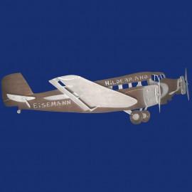 "Junkers 52 Flugzeug als Türschild ""Tante Ju"""