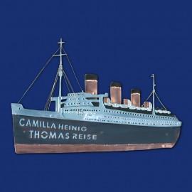 Kreuzfahrtschiff Queen Mary Türschild